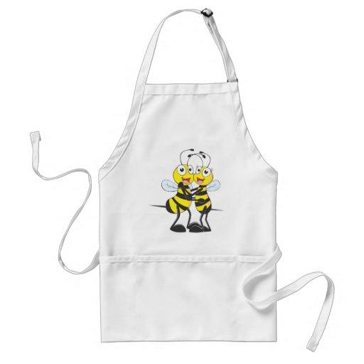 Amantes de la abeja delantal