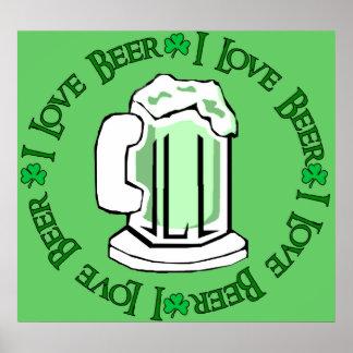 Amantes de la cerveza póster