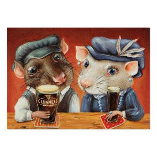 Amantes de la cerveza tarjetas de visita grandes