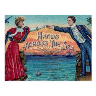 Amantes de la distancia del vintage postales