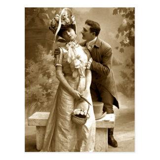 Amantes de la fotografía 2 del vintage tarjeta postal