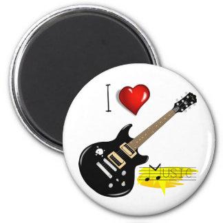 Amantes de la guitarra imán redondo 5 cm