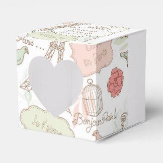 Amantes de la jaula de pájaros de los pájaros del cajas para detalles de boda