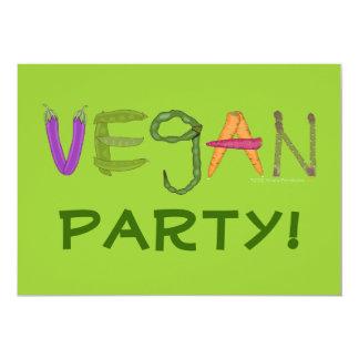 Amantes de la verdura de los Veggies del vegano Invitación 12,7 X 17,8 Cm