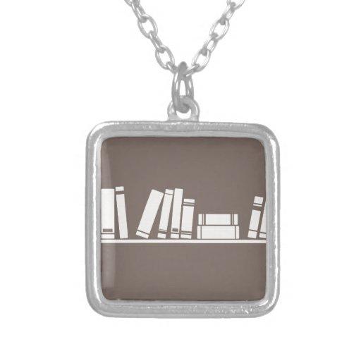 ¡Amantes de libros! Colgante Cuadrado