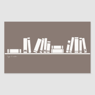 ¡Amantes de libros! Pegatina Rectangular