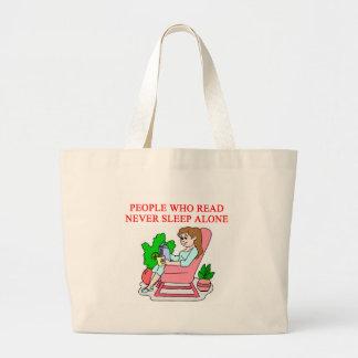 amantes de libros y de la lectura bolsa