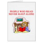 amantes de libros y de la lectura tarjeta