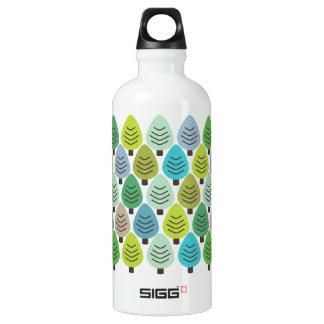 Amantes de naturaleza retros botella de agua