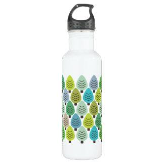 Amantes de naturaleza retros botella de agua de acero inoxidable