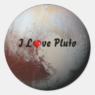 Amantes de Plutón Pegatina Redonda