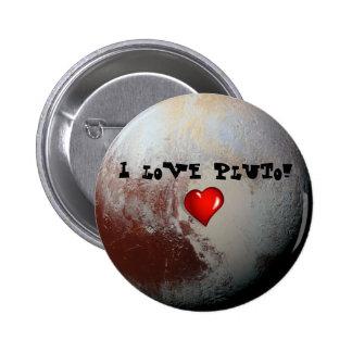 Amantes de Plutón Pin Redondo De 2 Pulgadas