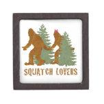 Amantes de Squatch Caja De Joyas De Calidad