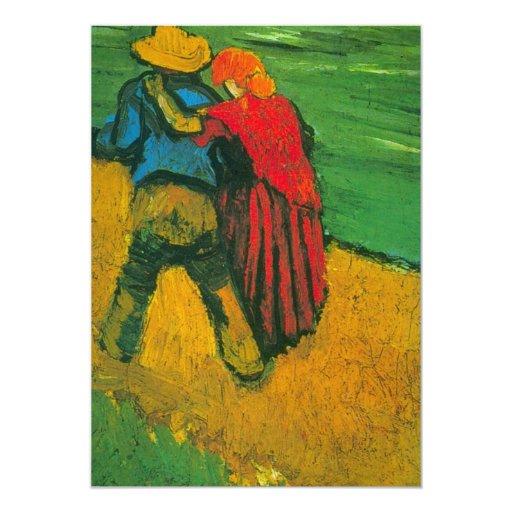 """Amantes de Van Gogh dos Invitación 5"""" X 7"""""""