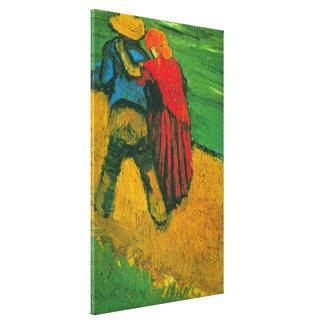 Amantes de Van Gogh dos Impresion De Lienzo