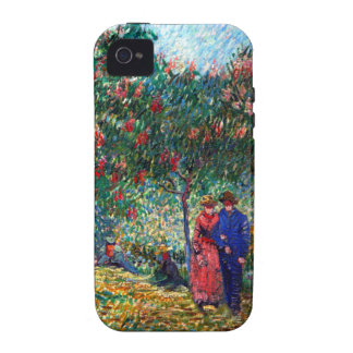 Amantes de Van Gogh en Montmarte Vibe iPhone 4 Funda