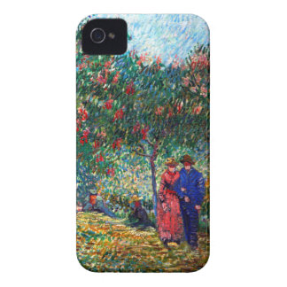 Amantes de Van Gogh en Montmarte iPhone 4 Fundas
