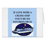 Amantes del barco de cruceros tarjeton
