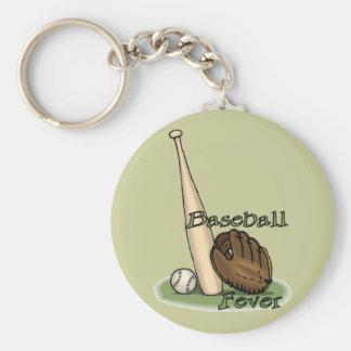 amantes del béisbol llavero personalizado