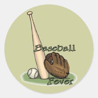 amantes del béisbol etiqueta redonda