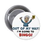 Amantes del bingo pin redondo de 2 pulgadas