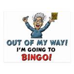 Amantes del bingo postales