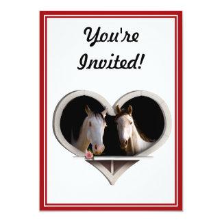 """Amantes del caballo (añada su texto) invitación 5"""" x 7"""""""
