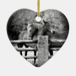 Amantes del caballo que se casan o corazón del ani ornamentos de reyes magos