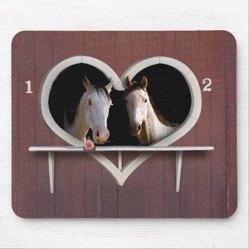 Amantes del caballo tapete de ratones