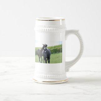 Amantes del caballo taza de café