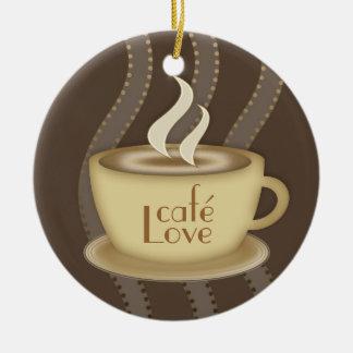 Amantes del café ornamentos para reyes magos