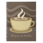 Amantes del café libreta espiral