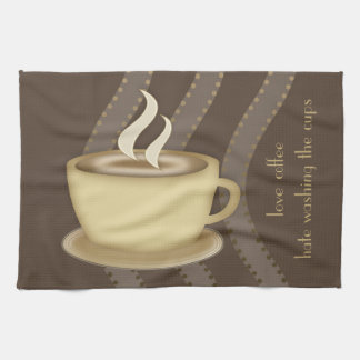 Amantes del café toallas