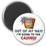 Amantes del casino imán redondo 5 cm