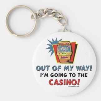 Amantes del casino llavero redondo tipo pin