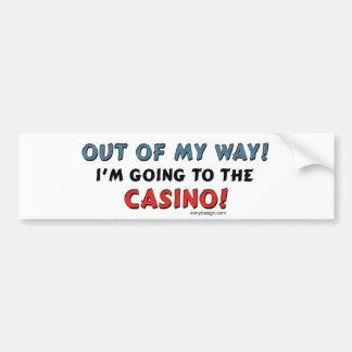 Amantes del casino pegatina para auto