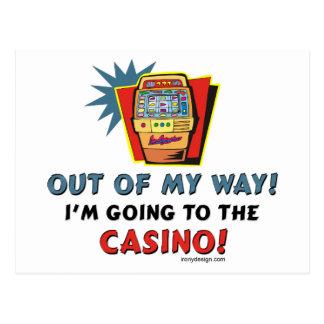 Amantes del casino tarjetas postales