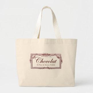Amantes del chocolate…. ame este arte del francés  bolsa lienzo
