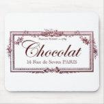 Amantes del chocolate…. ame este arte del francés  tapete de raton
