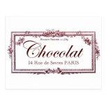 Amantes del chocolate…. ame este arte del francés  postales