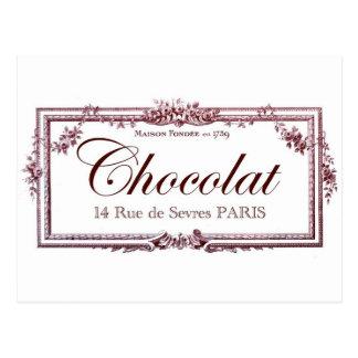Amantes del chocolate…. ame este arte del francés tarjetas postales