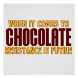 Amantes del chocolate poster