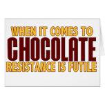 Amantes del chocolate tarjetón