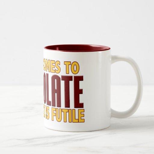 Amantes del chocolate taza de dos tonos