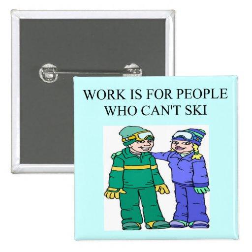 amantes del esquí pins