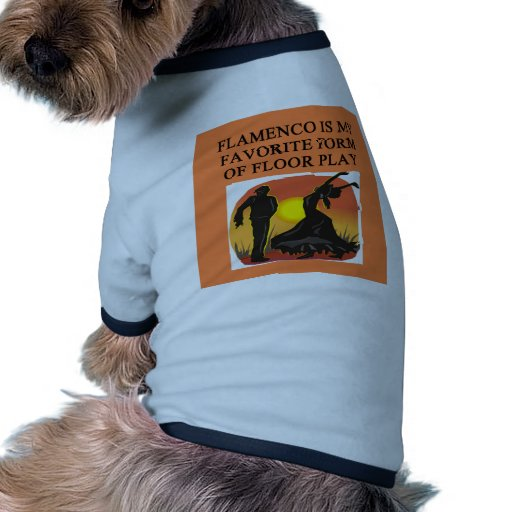 Amantes del FLAMENCO Camiseta Con Mangas Para Perro