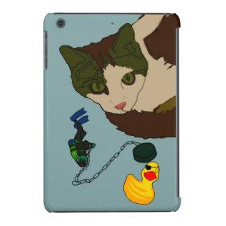 """Amantes del gato, """"gato en un baño """" fundas de iPad mini retina"""