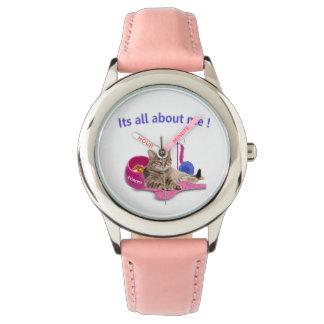 Amantes del gato reloj