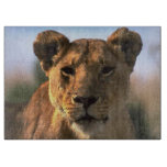 Amantes del león de la leona tabla de cortar