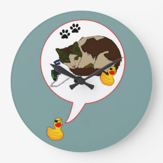 "¡Amantes del pato, ""Duckie dice! "" Reloj Redondo Grande"